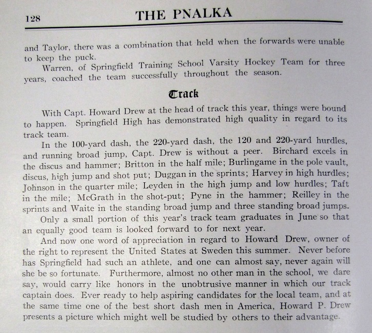 From the 1912 Springfield High School Yearbook, The Pnalka